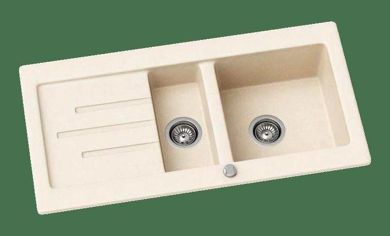 Kitchen Sink Kernau KGS R 60 1,5B1D OLD WHITE