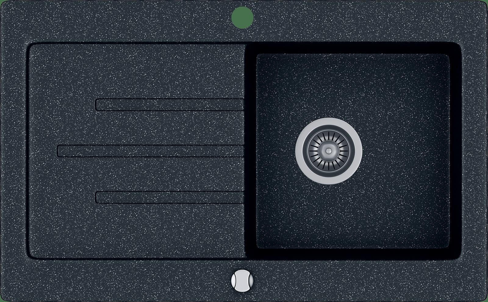 Kgs v 45 1b1d black metallic zlewozmywak granitowy czarny 19 png